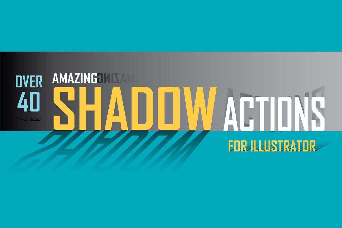 Amazing Shadow Actions for Illustrator