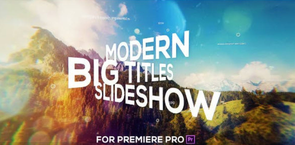 Big Titles Slideshow for Premiere Pro Main