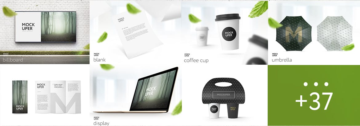 Branding Items Mock-up for guidelines for Photoshop example 1