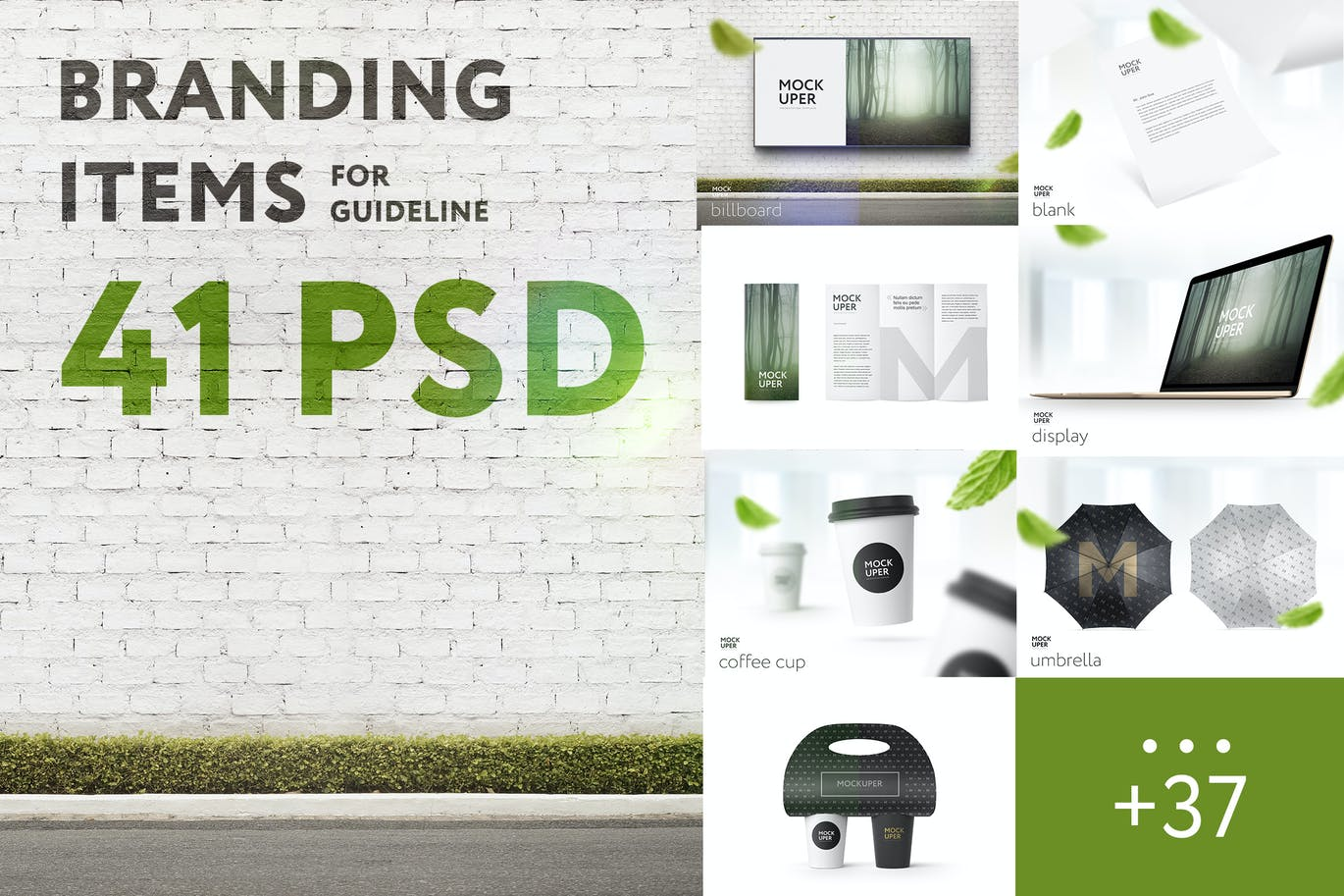 Branding Items Mock-up for guidelines for Photoshop