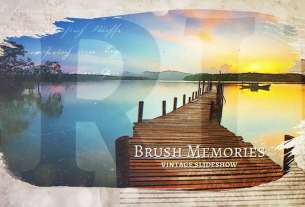 Brush Memories Paintbrush Slideshow for Premiere Pro