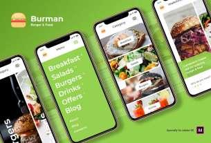 Burger & Food iOS UI Kit