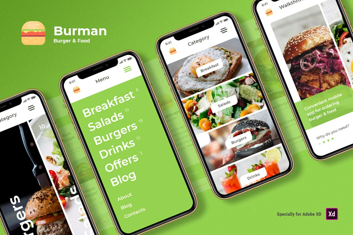Burger & Food iOS UI Kit