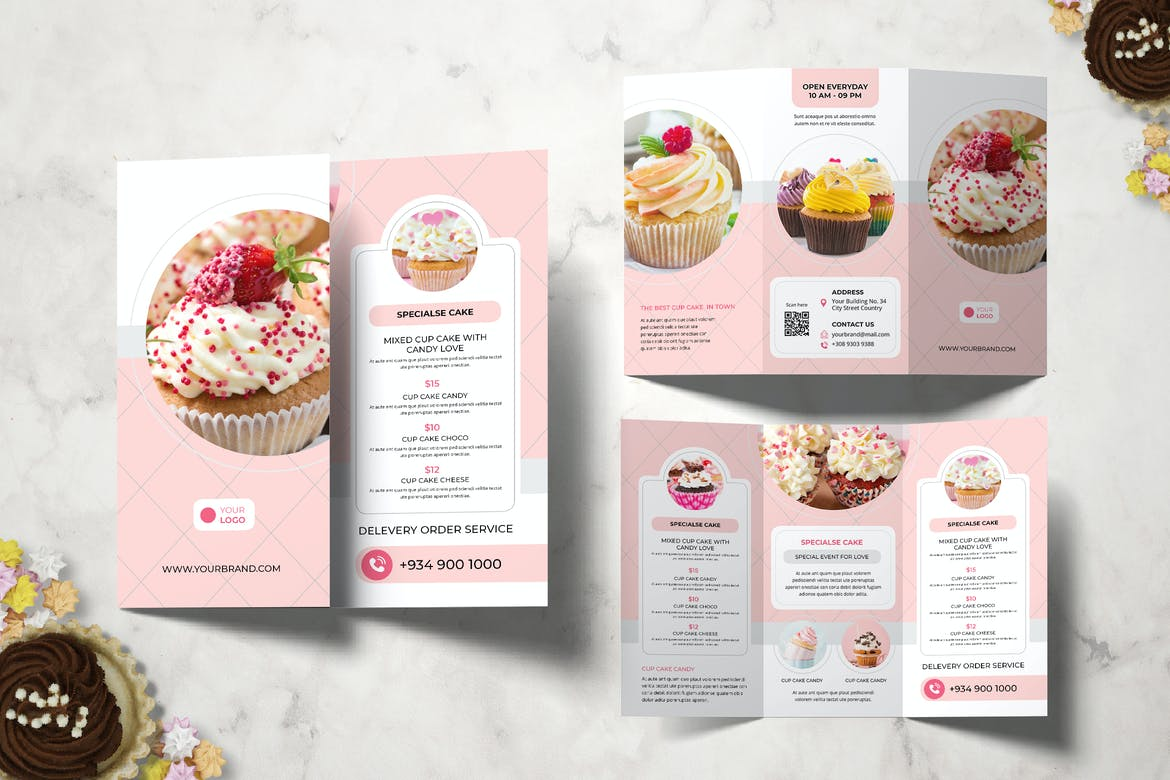 Cake Resto Trifold for InDesign