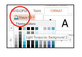 How to change shape color