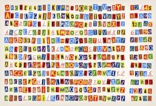 Paper cut alphabet