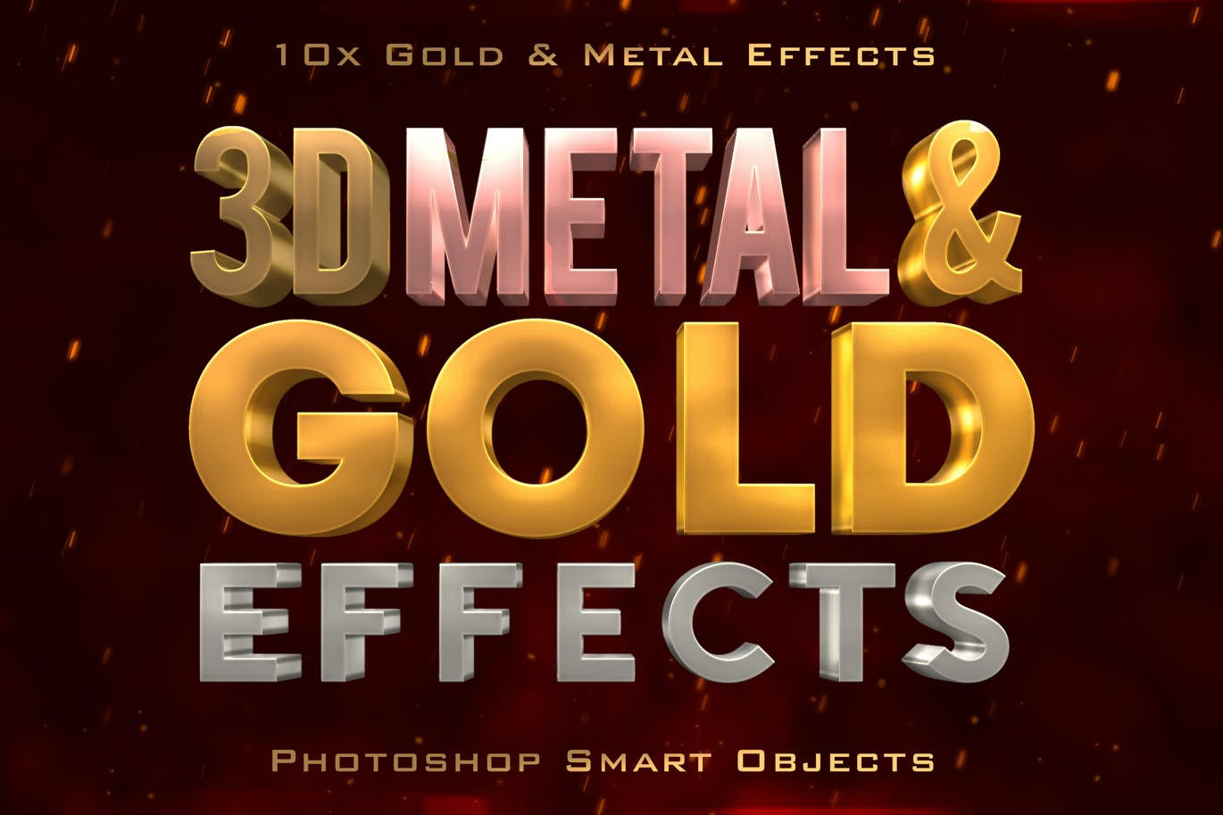 3D Metal & Gold Effects for Photoshop