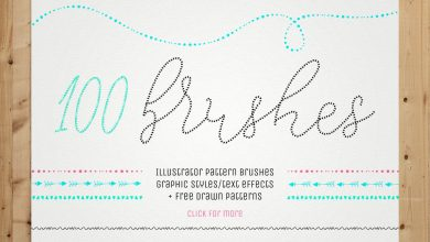 Photo of [Illustrator] 100 Pattern Brushes and 9 Graphic Styles