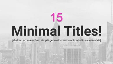 Photo of [After Effects] 15 Clean and Minimal Titles
