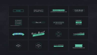 Photo of [After Effects] 16 Minimal Titles