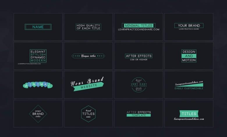 16 Minimal Titles for After Effects