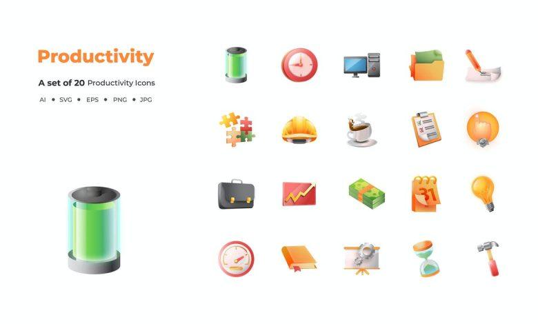 20 Productivity Icons