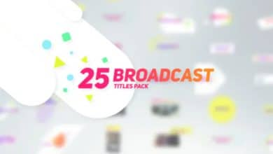 Photo of [After Effects] 25 Broadcast Titles Pack