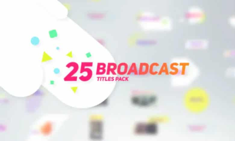 25 Broadcast Titles Pack