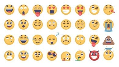 Photo of [Illustrator] 32 Emoji and Emoticons Pack