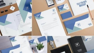 Photo of 4 Stationery Mockup Scenes