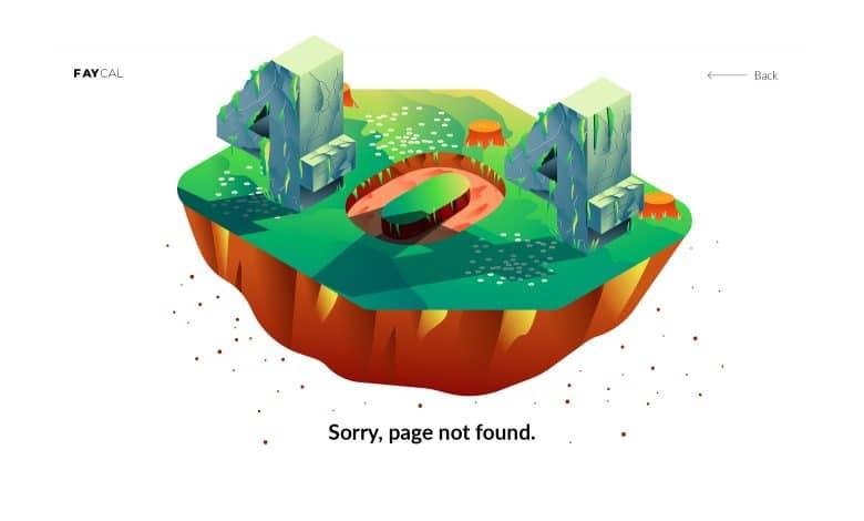 404 Banner Landing Page for Illustrator