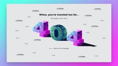 Photo of [Illustrator] 404 Planet Banner & Landing Page