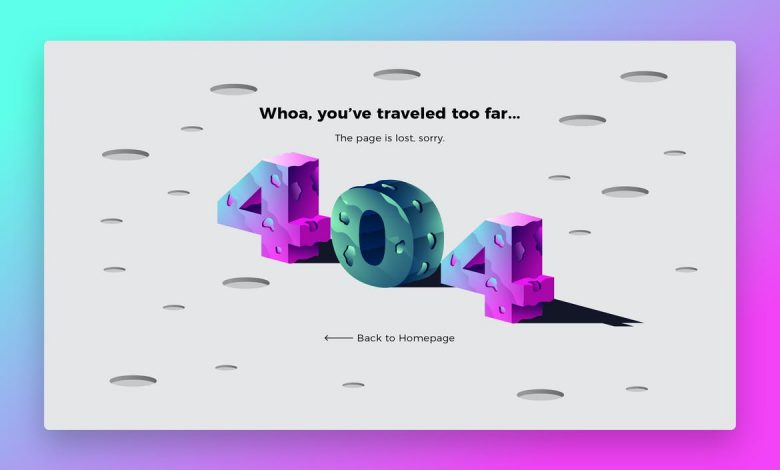 404 planet - Banner & Landing Page for Illustrator