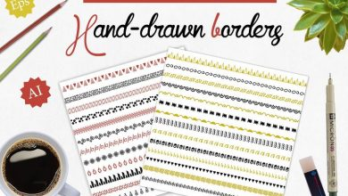 Photo of [Illustrator] 50 Handdrawn Brushes Borders Dividers