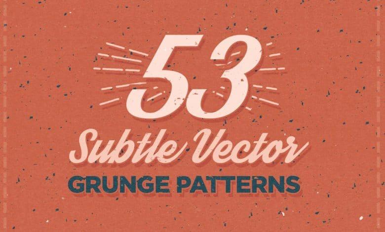 53 Subtle Vector Grunge Patterns