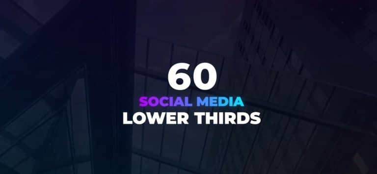 60 Social Media Lower Thirds for After Effects