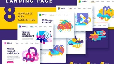 Photo of [Illustrator] 8 Landing Pages