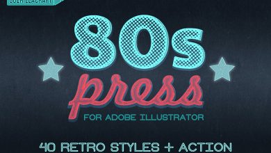 Photo of [Illustrator] 80s Press Styles and Actions