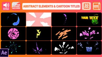 Photo of [After Effects] Abstract Shapes And Cartoon Titles