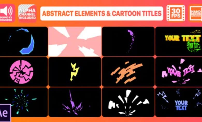 Abstract Geometric Shapes And Titles for After Effects