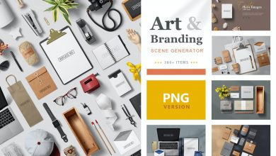 Photo of [Illustrator] Art & Branding Scene Generator – PNG Version