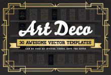 Photo of Art Deco 30 Awesome Vector Templates