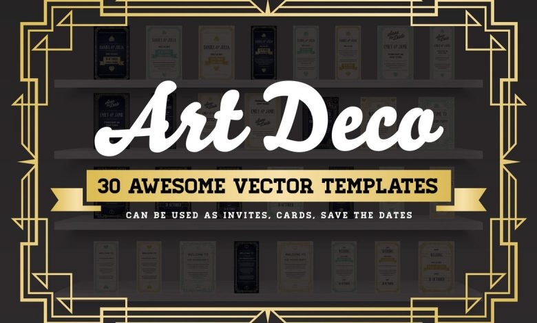 Art Deco 30 Awesome Vector Templates
