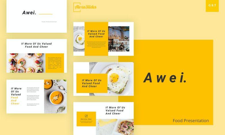 Awei - Food Google Slides Template