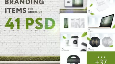 Photo of 41 Branding Items Mock-up for guidelines
