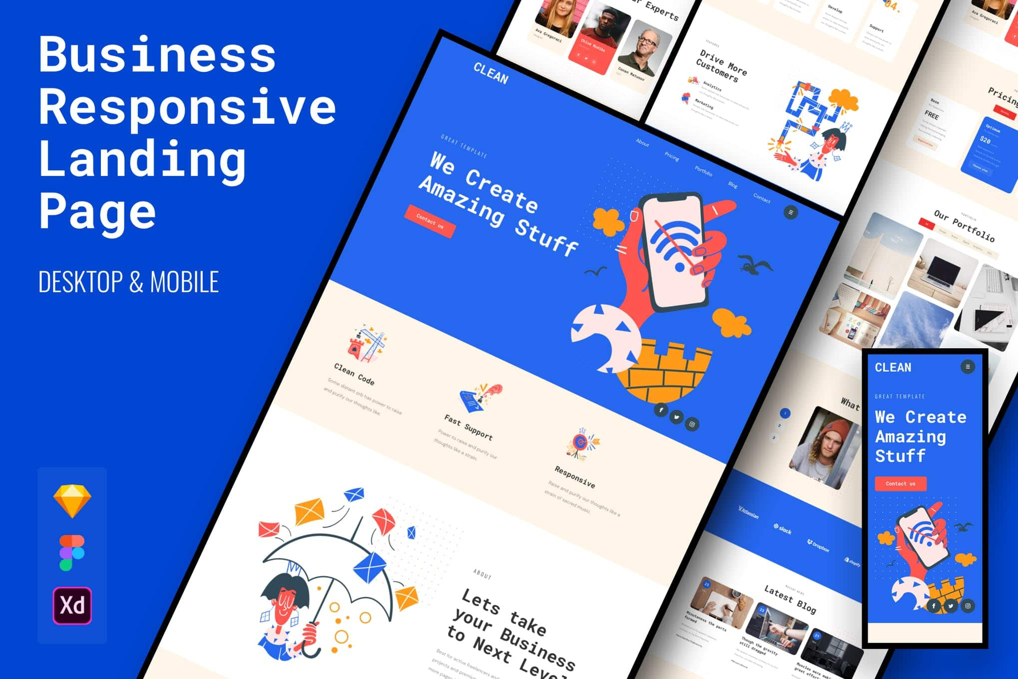 Clean Responsive Business Landing Page