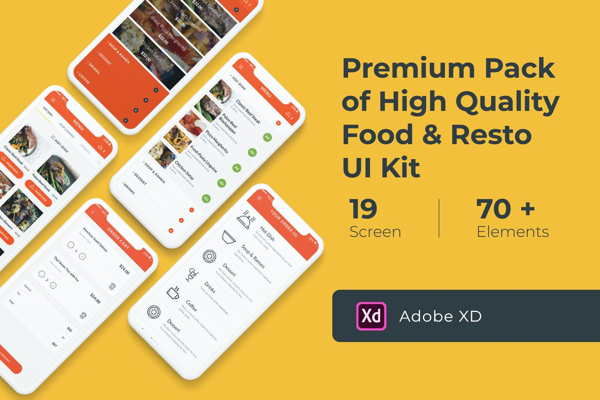 Photo of [Adobe XD] Food and Resto UI KIT