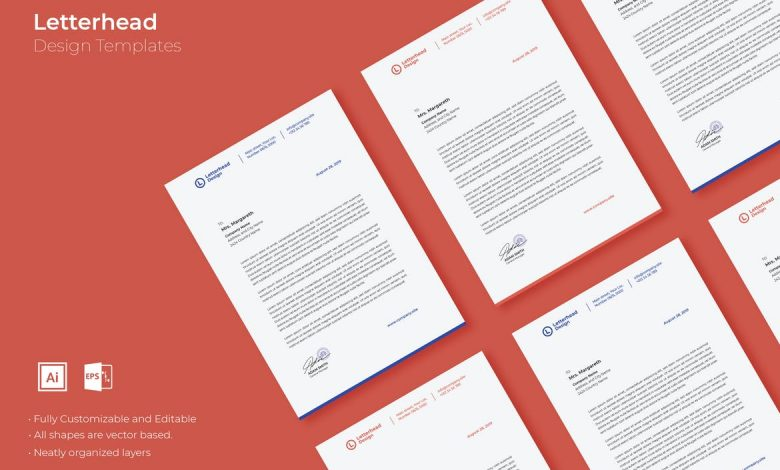 Letterhead Design for Illustrator