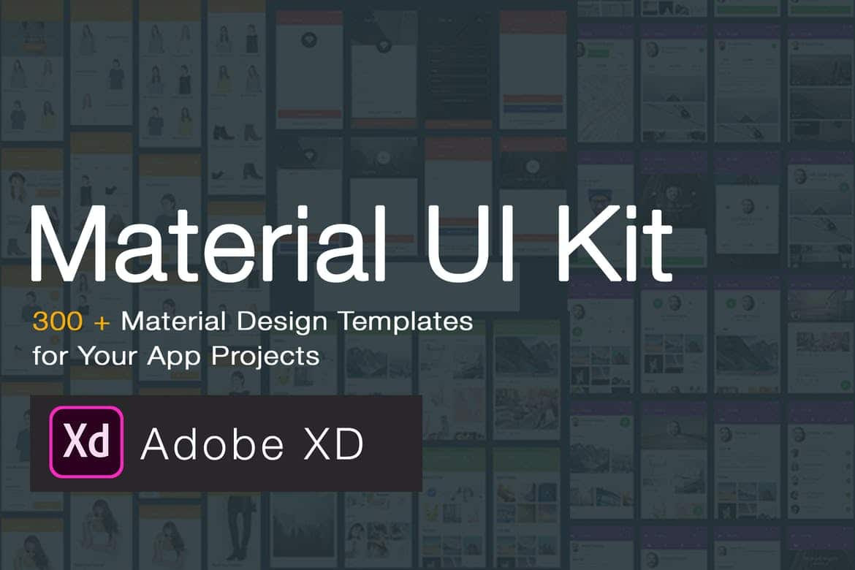 Material Design UI KIT - 300+ for Adobe XD