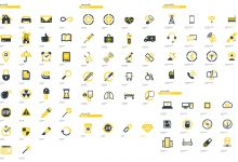 Photo of [Illustrator] More than 300 Flat Icons Package