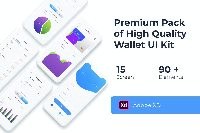 Wallet UI KIT for Adobe XD