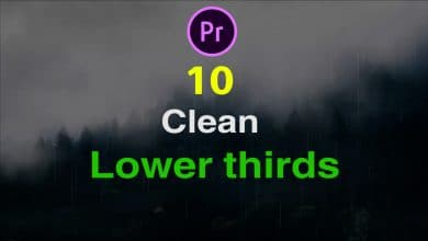 Photo of [Premiere Pro] 10 Clean Lower Third