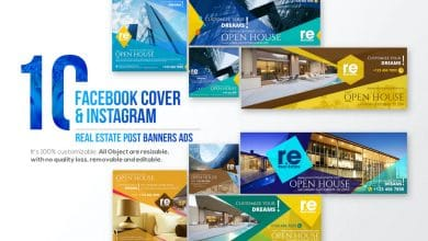 Photo of [Photoshop] 10 Facebook Cover and 10 Instagram Real Estate Post