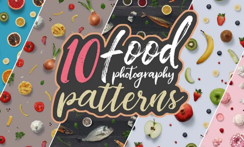 10 Food Photography Patterns for photoshop