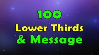 Photo of 100 Lower Thirds and Messages