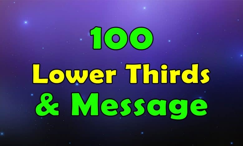100 Lower Thirds and Message for Premiere Pro