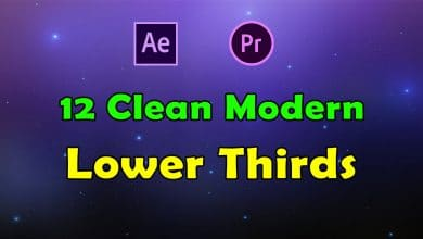 Photo of 12 Clean Modern Lower Thirds