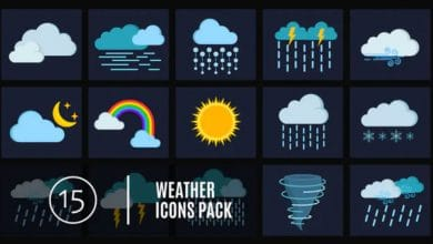 Photo of [Premiere Pro] 15 Weather Icons Pack