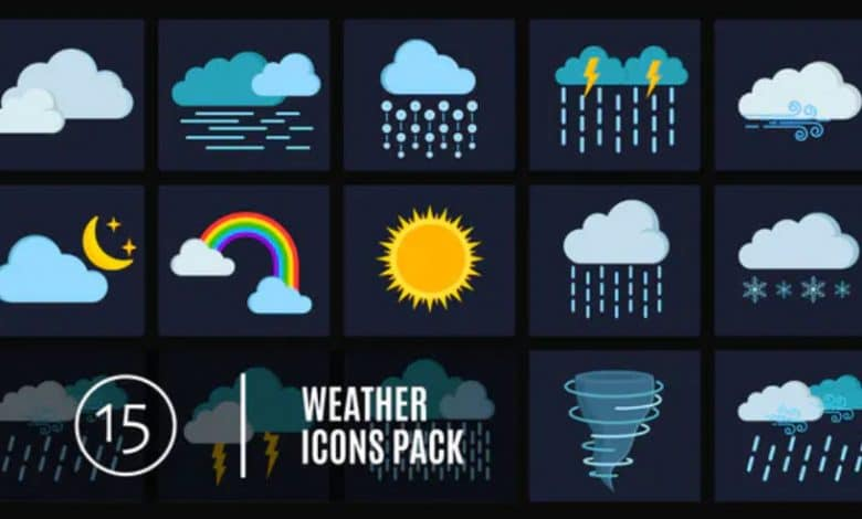 15 Weather Icons Pack for Premiere Pro