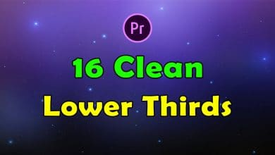 Photo of [Premiere Pro] 16 Clean Lower Thirds